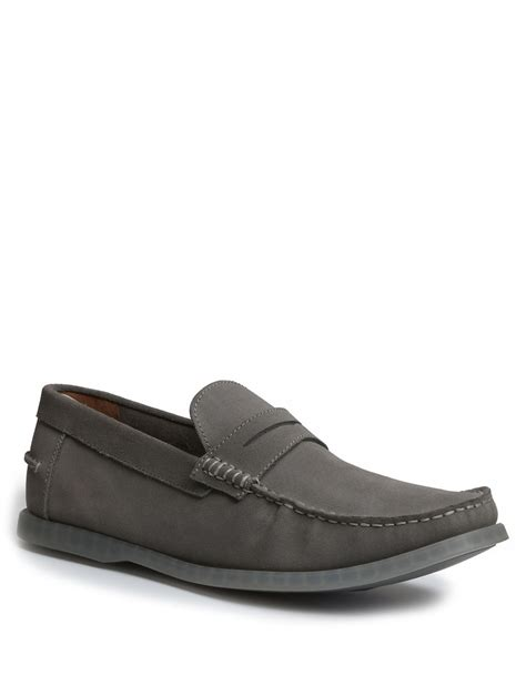 grey suede loafers g h bass co keane suede loafers in gray for