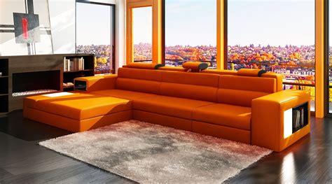 orange leather sofa bed orange sofa freshnist design