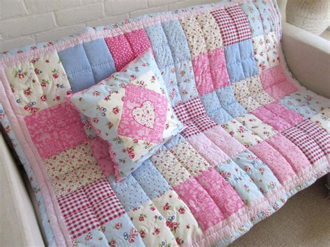 Patchwork Cot Bedding - pink patchwork bedding pink baby quilt pink patchwork
