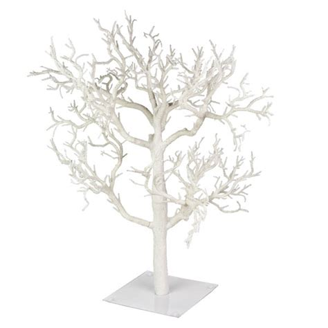 glittered frosted white branch twig tree 70cm baubletimeuk
