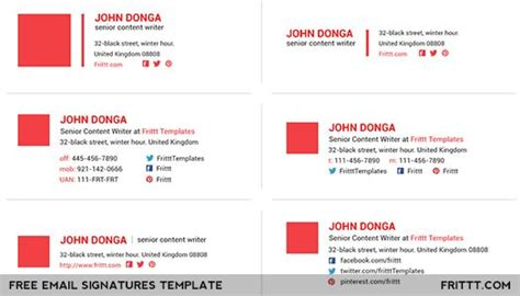 Esignatures Is A Collection Of 20 Email Psd Signatures Suitable For You Or Your Company S Email Psd Email Signature Template