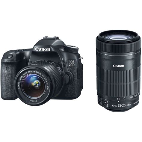 eos 70d canon canon eos 70d dslr with 18 55mm and 55 250mm lenses kit