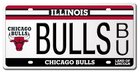 State Of Illinois Vanity Plates Chicago Bulls And Illinois Secretary Of State Unveil