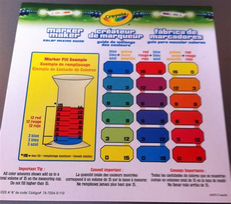 crayola color chart crayola marker maker color chart www imgkid the