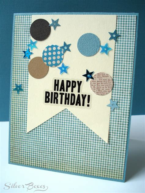 boys birthday cards to make silver boxes confetti birthday cards