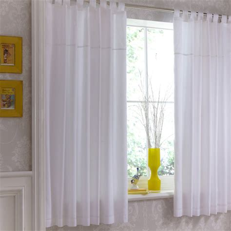 Tab Top Kitchen Curtains Izziwotnot White Gift Tab Top Curtains 132 X 163 Cm Ebay