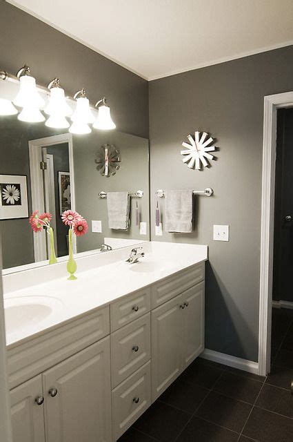 cool paint color for bathroom with white vanity cabinets 1000 ideas about grey bathroom cabinets on pinterest