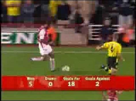arsenal unbeaten record arsenal 49 unbeaten record pt2 youtube