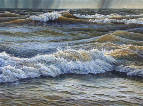 acrylic painting water david spyker seascapes lakescapes and water
