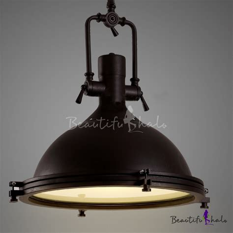 industrial look pendant lights nautical pendant light with frosted diffuser