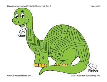printable dinosaur maze dinosaur mazes set 1
