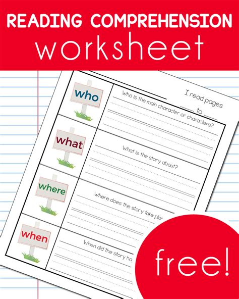 reading for free free reading comprehension worksheet free homeschool deals