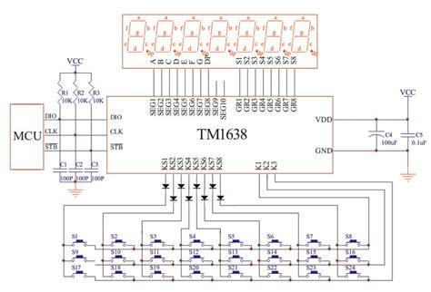 transistor controller or keyboard tm1638 led controller 80 leds max keyboard scan 24 max mbed
