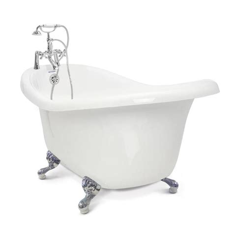 bathtubs lowes shop american bath factory chelsea 60 in white acrylic clawfoot bathtub with