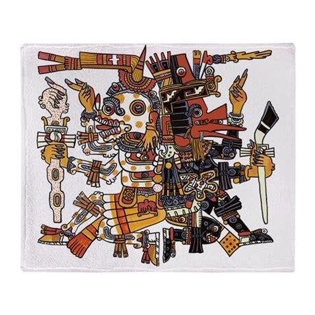 100 aztec gods designs a page 59 of 78 aztec god of and duality throw blanket by