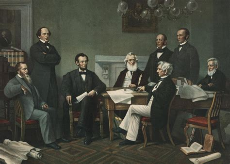 lincoln s cabinet painting by francis bicknell carpenter