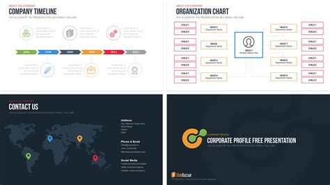 template powerpoint for company profile company profile free powerpoint template slidebazaar