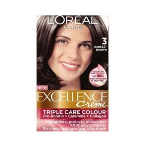 darkest brown hair color loreal loreal excellence creme 3 darkest brown hair color dye