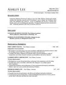 Simple Resume Sles In Word Sle Resume Word Best Resume Exle