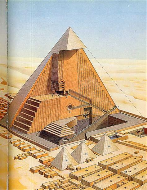 cross section of a pyramid khufu pyramid cross section flickr photo sharing