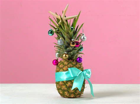 how to make a pineapple christmas tree coastal living