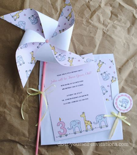 Printable Birthday Invitation Kits | printable 3rd birthday invitations diy party invitation kits