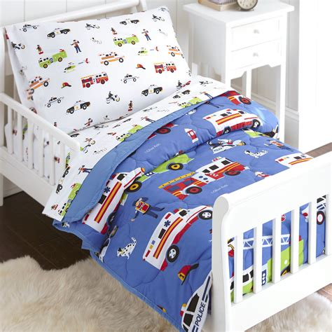 Olive Kids Heroes Police Fire Toddler Size 4 Piece Bed In Bedding For