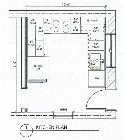 kitchen floor plan dimensions small u shaped kitchen with island and table combined