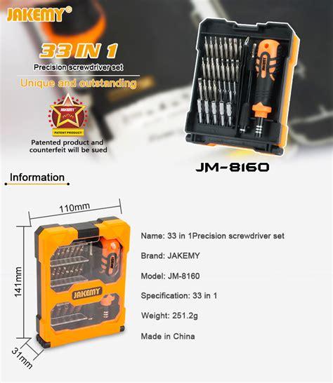 Jakemy 33 In 1 Obeng Set Jm 8160 jakemy jm 8160 33 in1 screwdriver set with spudger tweezers for electronics repair