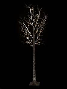 pre lit led lights tree 7ft snowy effect warm white twig tree pre lit led