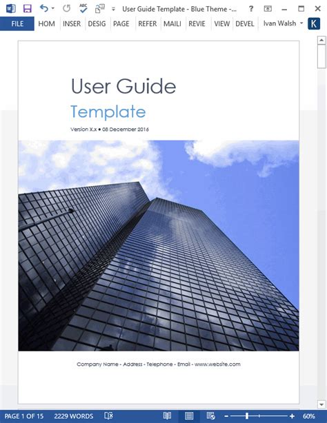 top 5 samples of user manual templates word templates excel templates