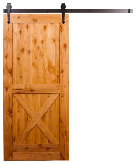 Half X Barn Door With Arrow Hardware Farmhouse Half Barn Door