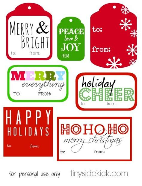 free printable christmas gift tags printable christmas