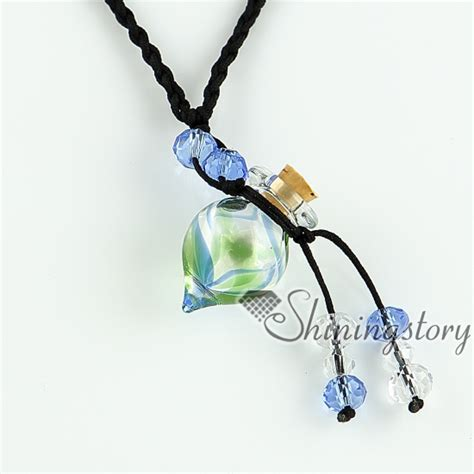 empty small glass vial necklace pendants vintage perfume