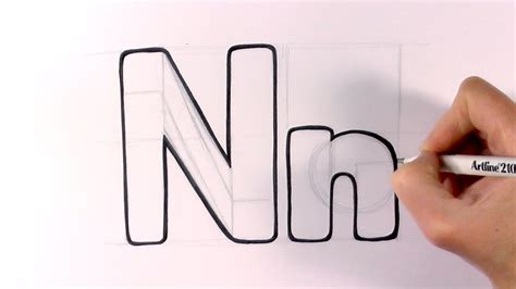 N Drawing Images by How To Draw A Letter N And N