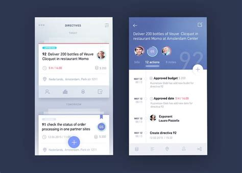 pattern ui ios blue card task for ios mobile design pinterest ios
