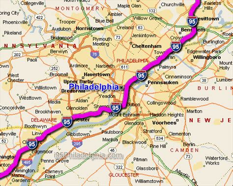 i 95 map i 95 philadelphia traffic maps and road conditions