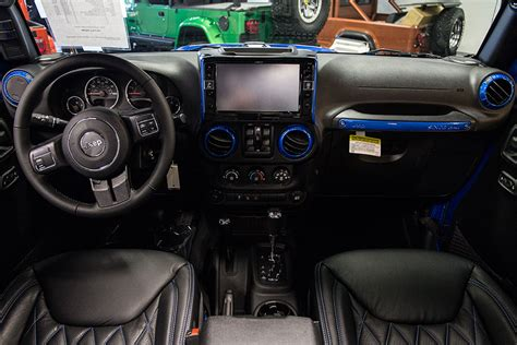 jeep wrangler custom interior 2016 jeep wrangler sport unlimited hydro blue