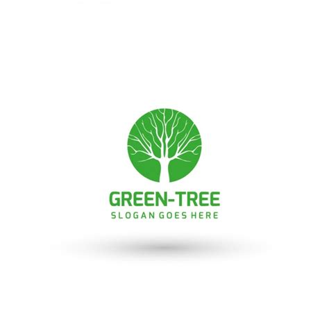 Green Tree Logo Template Vector Free Download Green Tree Logo Vector Vector Logo Free