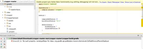 edmodo github no such property sonatyperepo for class in android studio