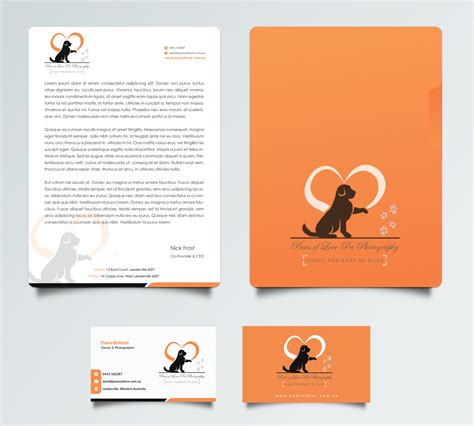 Award Winning Letterhead Bold Playful Business Card Design For David Brittain By Pointless Pixels India Design 11796951