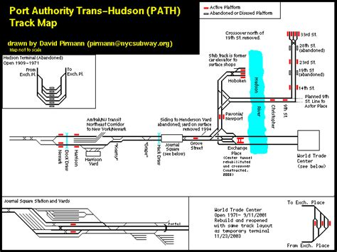Penn Station Interior Map by World Nycsubway Org Path Port Authority Trans Hudson