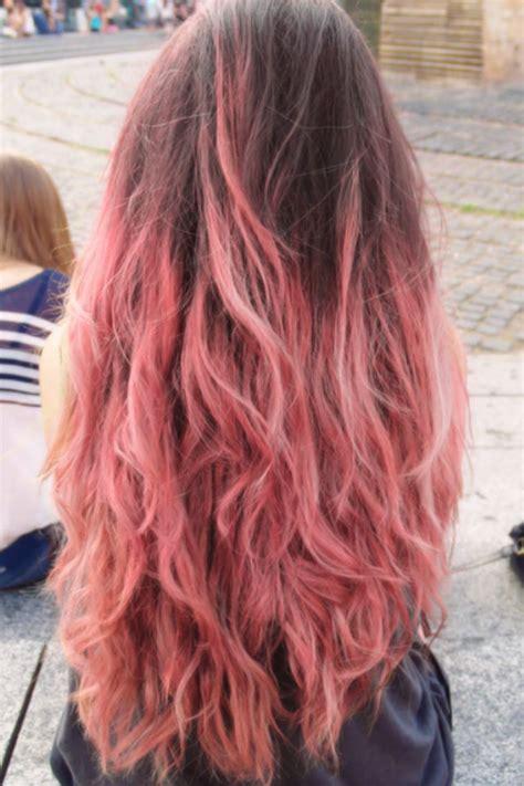 pink hair brown shadow root chocolate strawberry ombre of chocolate strawberry hair color pink and brown hair hair brown hair brown and pink