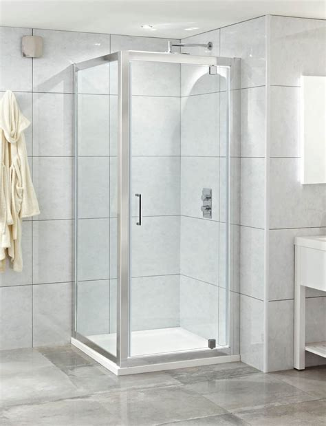 Style 8mm 800 Pivot Door Shower Enclosure Chrome Pivot Door Shower Enclosure
