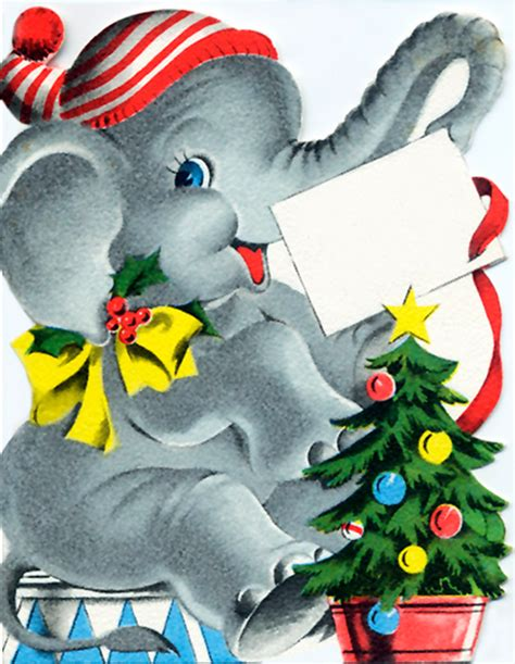 images of christmas elephants white elephant christmas card