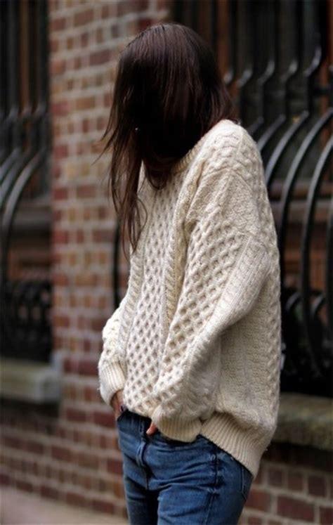 Sweater Rajut Cable Saku Series Knitted Sweater Winter Sweater sweater knit comfy casual knitted
