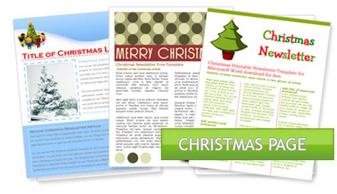 worddraw com free holiday newsletter templates for