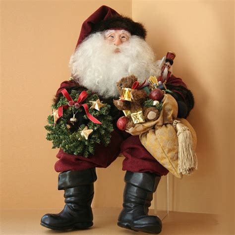 decorating with father christmas figures traditional world santa figure decorations traditional decorations