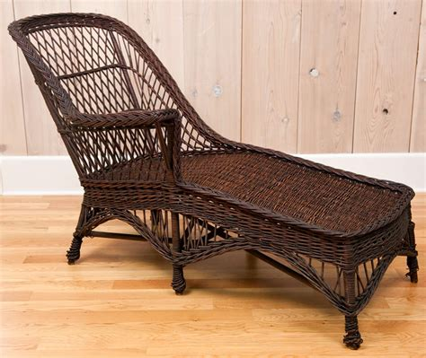 antique wicker chaise antique wicker chaise at 1stdibs
