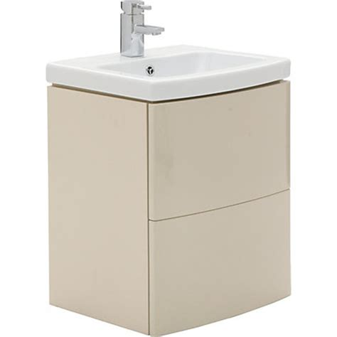homebase bathroom units charlton vanity unit 50cm cappuccino